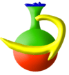 Merit Ethiopian Experience Tours Logo - Ethiopian Coffee pot in Green, Yellow, and Red Colors